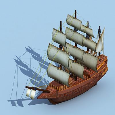 大型溘倫帆船