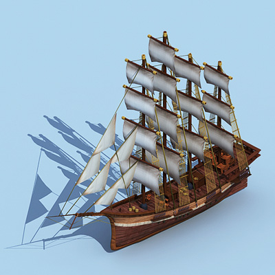 小型阿拉伯帆船
