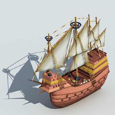 重型卡拉维帆船